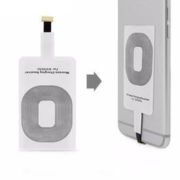 Qi receptor inalámbrico del receptor de la manzana online-Bobina universal del cojín del receptor del receptor del adaptador de carga del receptor del cargador de Qi para el teléfono elegante del teléfono móvil