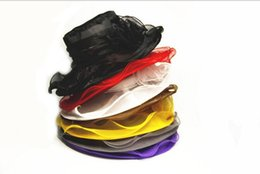 Wholesale Decoration Church - 56cm Ladies Organza Hats Fascinator Kentucky Derby Wedding Church Party Floral Women Summer Sun Hat 9 Colors Party Supplies