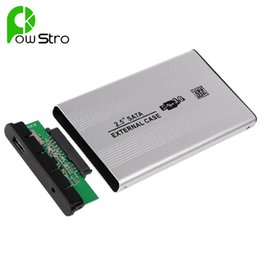 Wholesale Hard Drive Storage Boxes - USB 3.0 SATA External HDD Case Silver Aluminum 2.5 Inch Hard Drive Disk Storage Enclosure Box with USB 3.0 Cable Screwdriver