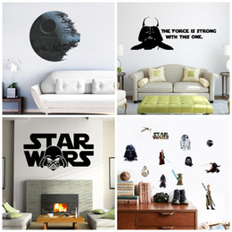 Wholesale Decorative Pvc Wall Paper - Wall Stickers Star Wars Character Paster Waterproof Walls Paper For Kids Removable Sticker Bedroom Living Room Decorative Decals 6 5zy4 A R