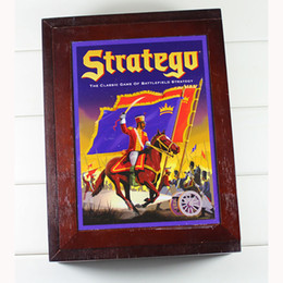Wholesale Wooden Military Toys - Stratego Game Wooden Box Vintage Game Collection Classic Game of Battlefield Strategy Western Military Backgammon Chess