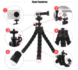 Wholesale Mini Gopro - Vamson for GoPro Accessories Mini Tripod Flexible Leg With Screw Mount Adapter For GoPro Hero 5 4 3+Xiaomi yi SJ Camera VP414C