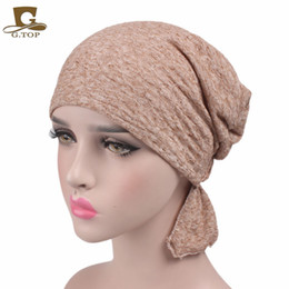 Wholesale Wholesale Summer Hats For Sale - Hot sale 2017 New Women cotton Chemo Hat stretchy Beanie headscarf Turban Headwear for Cancer Patients