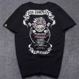 Wholesale Devil Hid - The little devil to hide the king 2017 summer men short sleeve flocking printed T-shirt