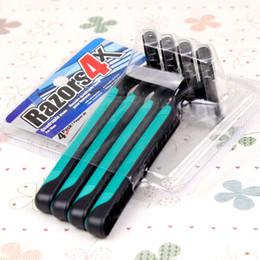 Argentina Nueva cuchilla de afeitar para el cabello de la axila / máquina de afeitar multifunción, rosa (paquete de 4) / cuchilla de afeitar verde para maquinilla de afeitar 3 Sistema Blade DHL FREE Suministro