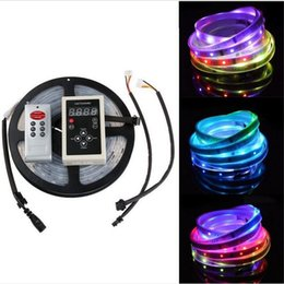 Wholesale Remote Tube Lights - Christmas LED Strip light 5m 5050 digital RGB 150LED IP67 tube waterproof dream magic color 12V Led Strip 30LED m+Remote +Power supply