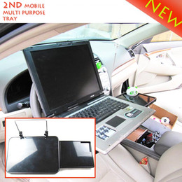 Wholesale Tray Wheels - Wholesale- Laptop Car Mount with Mouse Tray laptop stand Driving wheel or Seat back installation car accessories #SD-1504