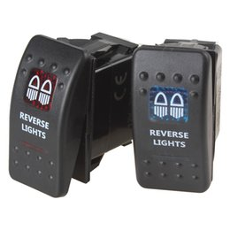 Wholesale Rocker Led - Cheap Sale! 12V 20A Waterproof Red   Blue LED Light Carling Style Reversing Light Rocker Switch CEC_917
