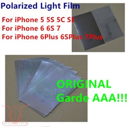 Wholesale Iphone Back Screen Panel - Original Back polarized film For iPhone 4s 5 5s 5c SE 6 6s 6p 6s plus 7 PLUS Polarizer Light Refurbishment Repair Parts