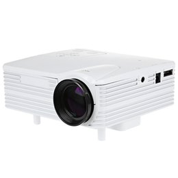 Wholesale Vga Systems - Wholesale- H80 Mini Projector HD 640 x 480 Pixels Support HD 1080P LED Projector LCD Image System AV USB VGA HDMI with Remote Controller