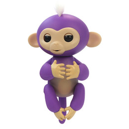 Wholesale Pvc Fingers - 6 colors Pre-sale PInteractive Baby Monkey Finger Toys Monkey Electronic Smart Touch Fingers Monkey with retail boxes free shipping A150