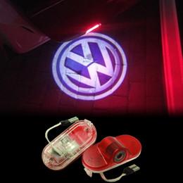 Wholesale Vw Golf Light White - 2X LED Volkswagen LAVIDA VW Touran Golf 4 Caddy Beetle Bora Car Door Logo Light HD Ghost Shadow Courtesy Laser Projector Welcome Lamp