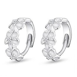 Wholesale Earrings Snowflake Long - Wholesale- Women 2016 New Fashion Full Rhinestone Crystal Long Snowflake Flower Dangle Hoop Tassel Earrings Gold Silver Sale E215