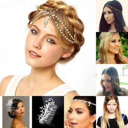 Wholesale Hair Sticks Rhinestones - In Stock Free Shipping Rhinestone Crystals Wedding Party Prom Homecoming Crowns Band Princess Bridal Tiaras Hair Accessories Fashion CPA