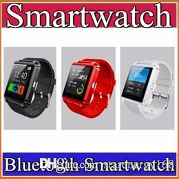 Wholesale Cheap Watch Phones Wholesale - 20X Factory wholesale cheap U8 smartwatch U8 Bluetooth Smart Watch Phone Mate For Android IOS Iphone Samsung LG Sony With call reminder A-BS