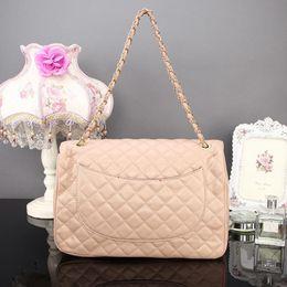 Wholesale Handbag Fashion Big Brand - caviar flap bag famous brands vintage lattice quilted bag fashion big shoulder crossbody bags handbags luxury designer chain bags female