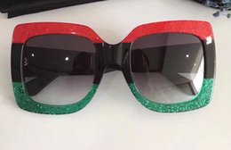 Wholesale Men S Titanium - hot 0083S Sunglasses Oversized Square frame Acetate 0083 S Sunglasses RED BLACK GREEN Fashion brand Sunglasses New with case
