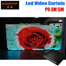 Wholesale Curtain Backdrops For Weddings - P9 3M*5M LED Vison Curtain with PC SD Mode,Tricolor 3In1 LED Video Curtain for DJ Wedding Backdrops 90V-240V