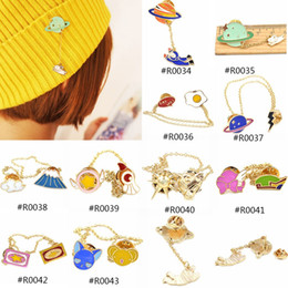 Wholesale Japanese Style Caps - Wholesale- Lychee 1 piece Japanese Style Men Women Cute Alloy Brooch Pin Bag Cap Glove Scarf Decoration Lapel Pin