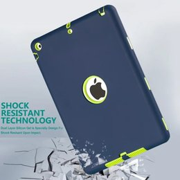 Wholesale Ipad Military Cases - Defender shockproof Robot Case military Extreme Heavy Duty Silicon cover for ipad air 5 air2 6 ipad 234 ipad mini 123 mini 4