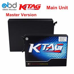 Wholesale k tuned - Wholesale- KTAG ECU Chip Tuning KTAG Main Unit V6.070 K tag Programmer No Limited V2.13 K-TAG Master Support Multi-Cars Free Shipping