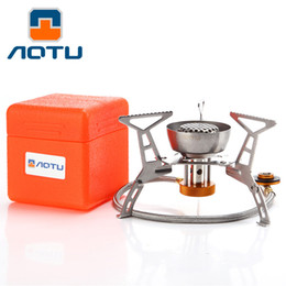 Wholesale Bbq Stove - AOTU Hiking BBQ Split Portable Camping And Picnic Wind Stove Gas Stove Outdoor Stove 134