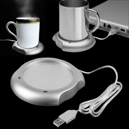 Wholesale Mug Heating Pad - Wholesale- 2016 Home Use USB Insulation Coaster Heater Heat Insulation electric multifunction Coffee Cup Mug Mat Pad