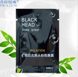 Wholesale Oil Close - Deep Cleansing PILATEN Tearing purifying peel off black mask Blackhead Close pores facial mud masks head pore strips