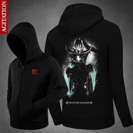 Wholesale Dota Hoodie - Wholesale- Agitation Men Sweatshirts Dota 2 HC Men Hoodies Plus Size Hoodies For Boys 3XL Cotton Hooded Casual Jacket Sweats Menswear