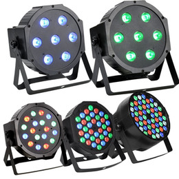 Wholesale dmx stage light bar - 36 LED RGBW Stage Light Crystal Magic Ball Par Effect Disco DJ Bar Effect UP Lighting for Disco DJ Party Wedding Club Show