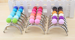 Wholesale Luggage Clasps - Luggage Bags Bag Parts Accessories Mini lovely Large candy ball bead head Kiss Clasp Silver arc-shaped 8 CM Thick Metal Purse frame