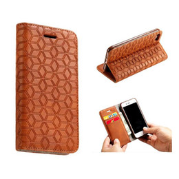 Wholesale Lighted Business Cards - Business PU Leather Wallet Kickstand Case Card Slot Cover For iPhone 8 7 6s plus 5s 5e Samsung S8 plus OPPBag