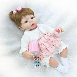 Wholesale Lifelike Inflatable Dolls - Wholesale- NEW hot sale lifelike reborn baby doll wholesale baby dolls fashion doll Christmas gift one yaer old gift