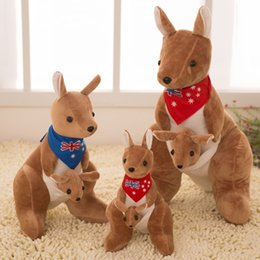 Wholesale Kangaroo Plush - 2017 high quality Brand BOHS Australia Soft Stuffed Plush Animals Kangaroo Parents Family Toy 25 cm Height