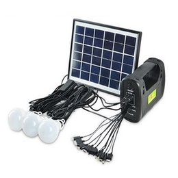 Wholesale Led Garden Light Kits - Wholesale- Solar Generator Kits Solar Panel Camping Lighting Portable Mobile Powerbank Hand Lamp Light for Emergency Fishing Hiking RV