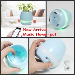 Wholesale Night Lights Toys - New! Creative Music Vase Smart Music Flowerpot Wireless Bluetooth Speaker K3 Intelligent Plant Piano Music with Colorful LED Night Light