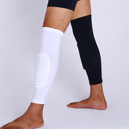 Wholesale Braces Supports Wholesale Price - Wholesale- Best Price 1Pc Breathable Sports Men Honeycomb Long Knee Support Brace Pad Protector Sport Basketball Leg Sleeve Sports Kneepad