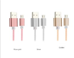 Wholesale Micro I Phone - Micro USB cable 2 in 1 nylon cable 1.5M 5Ft For Samsung Charging Android Cellphone V8 Cable I phone DHL free
