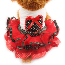 Wholesale Dot Stores - Armi store Spring And Summer Polka Dot Tutu Dog Dresses Clothes Princess Dress For Dogs 6071002 Pet Sweetheart Skirt S, M, L, XL