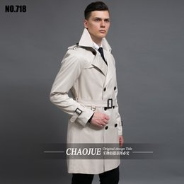 Wholesale Spring Trench Coats For Men - Wholesale- Mens medium-long black trench coat 2016 spring  autumn fashion oversized 6XL funky dress coat luxurious trench coats for men