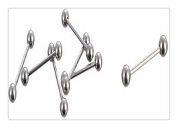 Wholesale Wholesale Pierced Nipple Rings - Wholesale Hot silver beads Mix Silver Stainless Steel Nose Navel Belly Lip Nipple Eyebrow Ear Studs Bar Ring Ball Piercing Kit Body Jewelry
