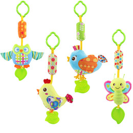 Wholesale Owl Baby Doll - Wholesale- Baby Toys stuff owl chick bird bee with Ring Bell Cute Cartoon Animal Plush creative Doll Early Educational toys gift