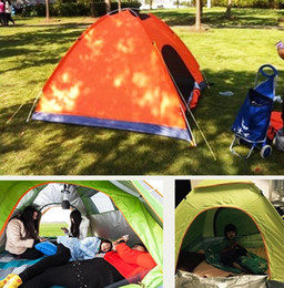 Wholesale Outdoor Tent Pink - DHL-Outdoor 200*200*135cm Oxford cloth PU waterproof coating 4 seasons 2 people single layer camping hiking tent zf-1
