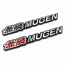 Discount honda civic chrome - 3D Aluminum Mugen Emblem Chrome Logo Rear Badge Car Trunk Sticker Car Styling for Honda Civic Accord CRV Fit and so on