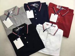 Wholesale England Tshirt - M669 Top quality new Luxury Mens Mon polo Brand fashion t shirt classic Summer short sleeve breathable tshirt men male breathable plus size