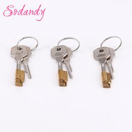 dispositivo de retención de pene pene Rebajas SODANDY 3set Magic Lock and Keys Componente del dispositivo de castidad para la nueva jaula de castidad Para hombre Cock Cage Restricción Pene Stealth Locks