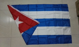 Wholesale Cuba Wholesalers - 2017 90*150 cm Flags of the World free shipping 100% polyester printing 3 * 5ft Cuba flag