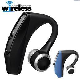 V12 Бизнес беспроводные Bluetooth-наушники Гарнитура Handsfree Office Наушники с микрофоном Голосовое управление с шумоподавлением для iphone samsung от