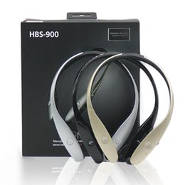 Wholesale Logo Brand Wholesale - HBS900 Tone Bluetooth Headphone Wireless Earphone HB 900 Stereo Sports Retractable Headsets for smart phone Without a logo with package
