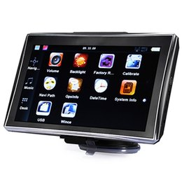 Wholesale Hand Gps Systems - X7 Car GPS Navigation 7 inch Bluetooth AV-IN Vehicle Navigator 800 x 480 128M 4GB 8GB GPS Navigation System With FM New Map